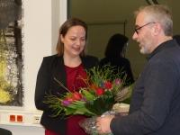 Janine Köster und der Geschäftsführer des SPD-Unterbezirks Stefan Mix